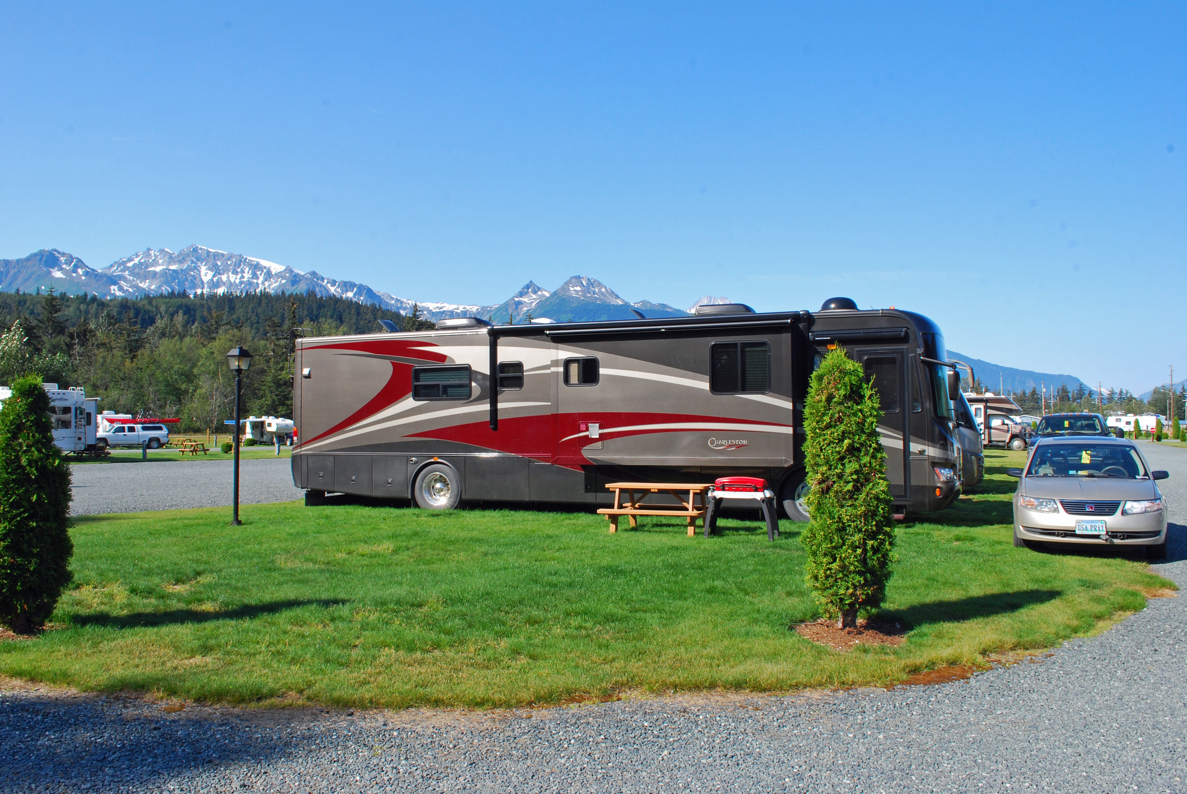 Amenities Haines Hitchup Rv Park 50 Amp Service For Platinum Sites Are Extra Large Pull Thru With Full Hook Ups Cable Tv